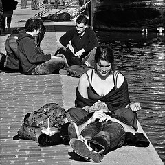 sunbathing (fifich@t / Franise / off) Tags: street people blackandwhite bw sun paris france square soleil candid streetphotography bank nb lovers grayscale rue quai greyscale amoureux copyright squarepicture allrightsreserved classicbw parisinblackandwhite formatcarr paris19e copyrightallrightsreserved tousdroitsrservs nikond300 blackandwhiteurban blackisthecolour lightroomps fifichat1 frs blackandwhitearethecolorsofphotographytometheysymbolizethealternativesofhopeanddespairtowhichmankindisforeversubjectedrobertfranck fificht frs