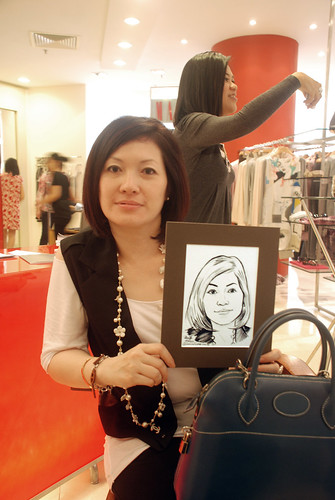Portrait live sketching for Marella boutique - 7