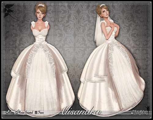 Alisandra Wedding Gown (Blush)