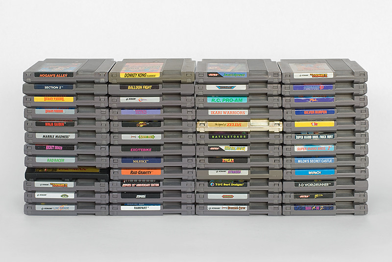 NES Nintendo Game Lot Rad 48 Cart Classic