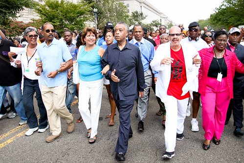 Al Sharpton marches