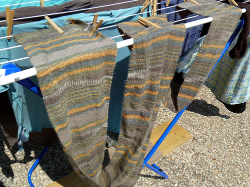 Fabric, drying