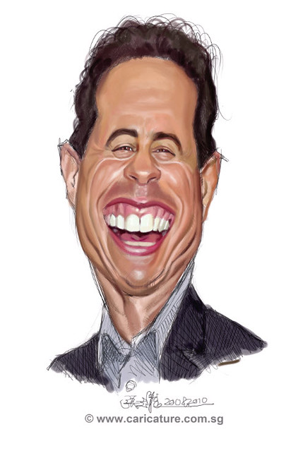 digital caricature painting of Jerry Seinfeld - 1 small