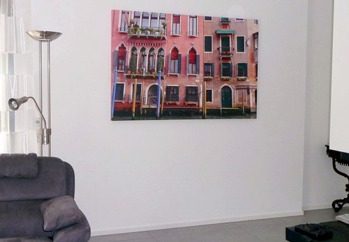 Palazzo Veneziano on canvas in my living room