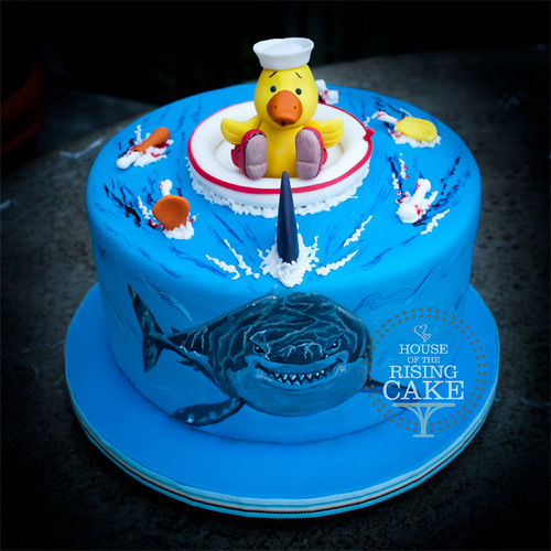 Shark and Rubber Ducky cake