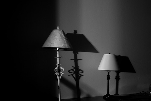 shadow lamp night dark lights nikon 365 nikond3000