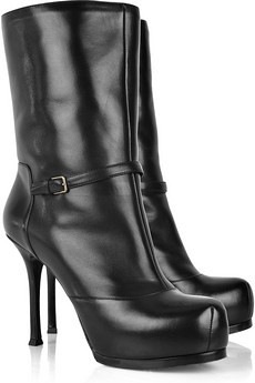 YSL tribtoo leather boots