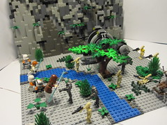 Lego Star Wars Battle of Kashyyyk (-Chriz-) Tags: brick set star lego gray battle jedi wars clone productions droid moc kashyyyk graybrickproductions