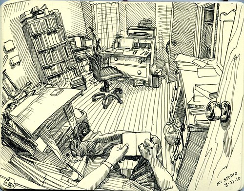 my studio/closet, 2010
