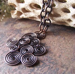 ~Waves~ (lo4us_p) Tags: necklace wire handmade jewelry jewellery copper etsy coil pendant sculpted wirewrapped liquidsilver wireartjewelry wirejewelrydesign liquidsilver1