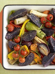 Purple Majesty Ratatouille Tray Bake (J Sainsbury) Tags: purple bee sally potato sainsburys majestic