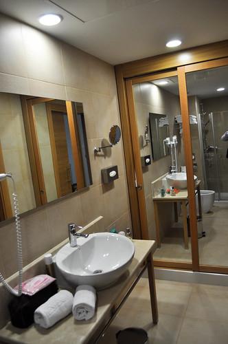 Detalle de baño de las habitaciones