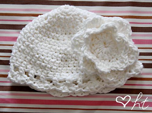 White Baby Cloche Hat