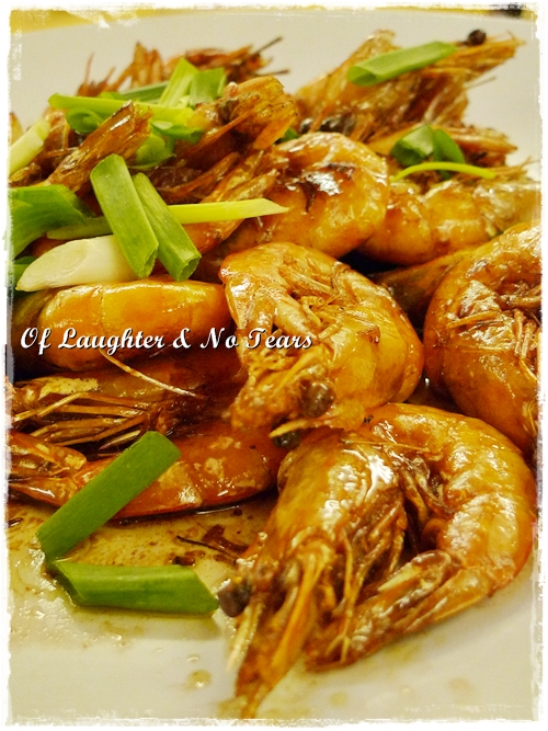 Pan Fried Prawns in Soy Sauce