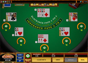 Multi-Hand European Blackjack Strategy