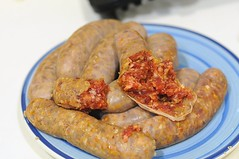 Innards of Johnsonville Chorizo