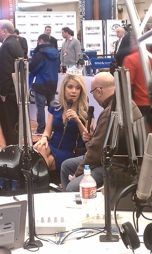 Miss America Teresa Scanlon radio interview at Superbowl