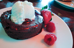 Chocolate Lava Cake at Wolfgang Puck's