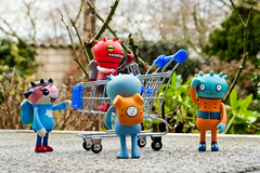Uglyworld #974 - The Discovery (www.bazpics.com) Tags: dog water metal shopping robot team trolley sunny away super surface plastic planet kart cart 75 investigate minus noupa davidhorvath sunminkim barryoneilphotography