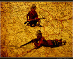 toy war... (Brian Gort Wildlife Photography) Tags: metal vintage tin nikon map soldiers s3000