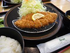 あけと「ロースかつ定食」(790円)