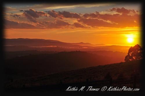 46-365 Sunrise at Kallista from Ridge Road