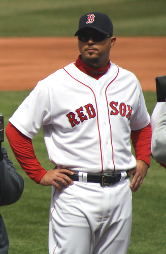 Josh Beckett during team introductions