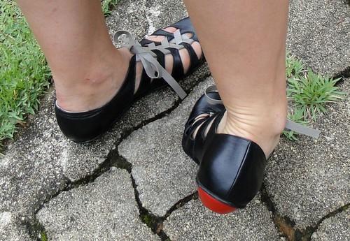 Sapato trançado