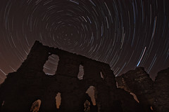 Window to the stars (RichGrundy) Tags: sky castle window night canon ruins sigma somerset dorset 1020mm sherborne startrails polaris englishheritage project365 450d sherborneoldcastle