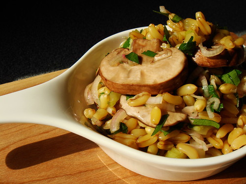 Kamut and Mushrooms with Celery and Shallots