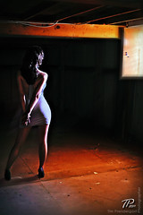 110327DC-catwalk3-web (timpweb) Tags: wood light woman sun window beautiful dark md model nikon purple basement hips ambient brunette studios laurel catwalk d700