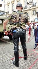 """bootsservice 17 1600456 (bootsservice) Tags: paris """"gay pride"""" """"marche des fiertés"""" bottes cuir boots leather sm motards motos motorcyclists motorbiker caoutchouc rubber uniforme uniform"""