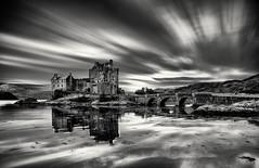 Eilean Donan (Grant Morris) Tags: castle eileandonan eileandonancastle scotland dornie longexposure monochrome mono blackandwhite bw seaside seascape reflection grantmorris grantmorrisphotography canon