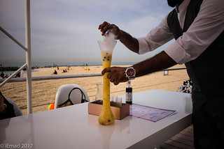 Refreshment by the beach...