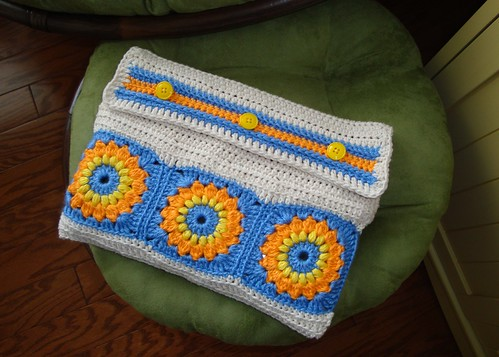 Crocheted Netbook Case 01