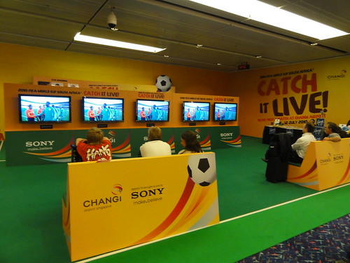 Worldcup at Changi