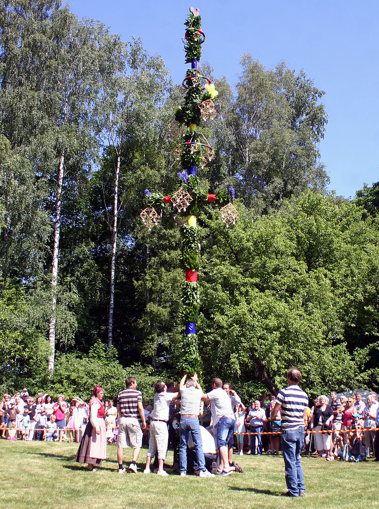 The Raising of the Midsummer Pole