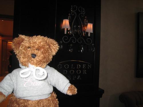 EvaBear at the Golden Door Spa