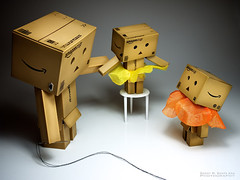 "082/365:  ""Is This How I Should Wear A Tutu?"" (Randy Santa-Ana) Tags: ballet toys wear tutu danbo gf1 project365 danboard minidanboard minidanbo 365daysofdanbo"