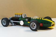 Lotus 49 Formula 1 Racer 1968 (lego911) Tags: auto uk england classic sports car model lego lotus f1 49 1968 formula1 v8 racer lugnuts cosworth moc jimclark britishracinggreen grahamhill brg godsavethequeen miniland dfv lotus49