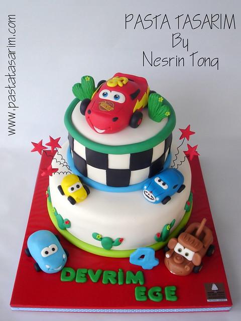 DISNEY CARS BIRTHDAY CAKE - DEVRIM EGE