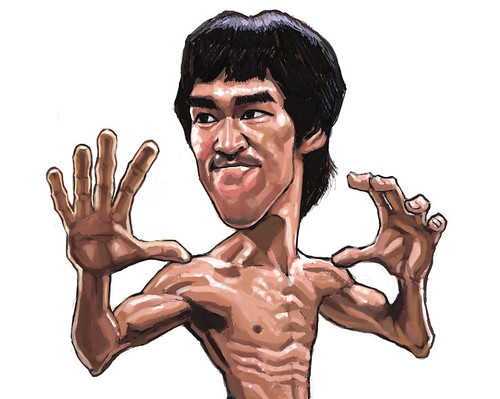 digital caricature of Bruce Lee - 3