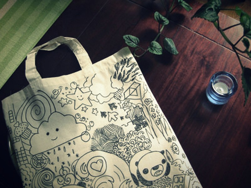 Minä Itte! textile marker DIY totebag by Inka 1 phixr