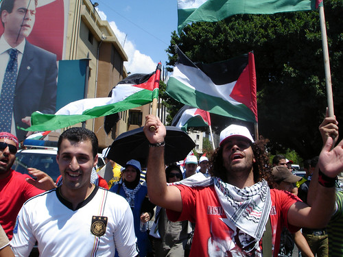 Pierre Gmayel & the march for the Palestinians' civil rights in Leb