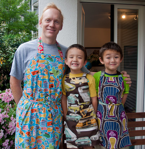 My boys and their new aprons