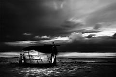 (Effe.Effe) Tags: longexposure sea bw beach monochrome night boat barca mare riva spiaggia notte senigallia vintagelens meyergörlitzlydith30mmf35