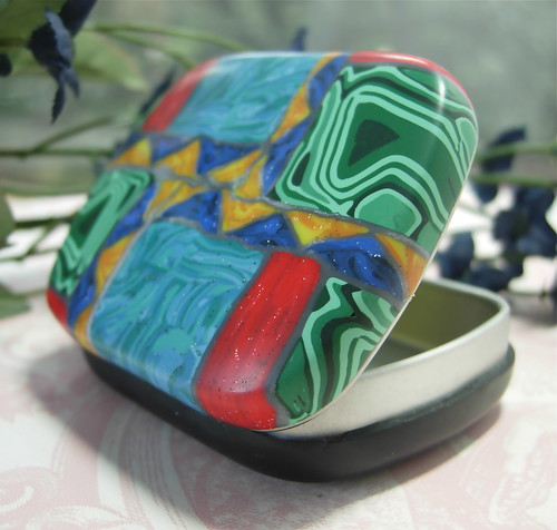 Faux Southwestern Mosaic Inlay Tin