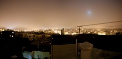Day 23 - The Richmond Effect (Crooka) Tags: roof panorama moon fog night landscape san francisco richmond inner neighborhood