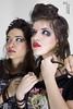 Maria y Elena1 (Jo_Cosme) Tags: girls music fashion hair iron makeup chicas portfolio radiohead maiden rockers pelo maquillaje roqueras