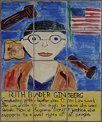 Ruth Bader Ginsberg (glennbphoto) Tags: sanfrancisco justice unitedstates tiles guesswheresf law foundinsf supremecourt ruthbaderginsberg